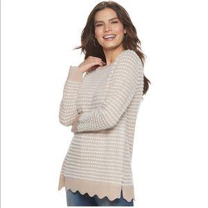 Elle Scallop Tunic Sweater